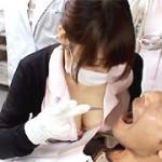おっぱいを押しつけてくる歯科助手3